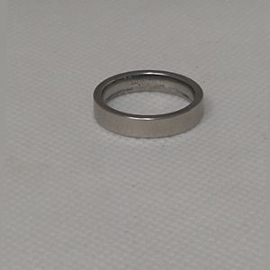 New stainless steel silver ring size 6